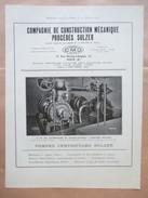 1922 - Installation Pompe SULZER Ets Charbonnages De CHARLEROI     - Page Originale MACHINE Industrielle - Tools