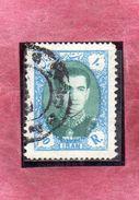 IRAN 1956 1957 Mohammad Reza Shah Pahlavi SCIA DI PERSIA 10r USATO USED OBLITERE' - Iran