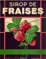 110817 - étiquette - Sirop De Fraise 33 BORDEAUX - Fruits Et Légumes