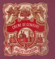 110817 - étiquette ALCOOL APERITIF - CREME DE GENIEVRE Qualité Supérieure - Angelot Alambic - Fruits Et Légumes