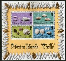 Pitcairn Islands 1974 Sea Shells Marine Life Animals M/s Sc 140a MNH # 9659 - Marine Life