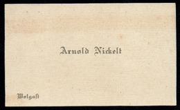 A5845 - Alte Visitenkarte - Arnold Nickel - Wolgast - Ca. 1930 - Visiting Cards