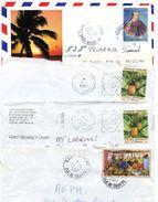 Lot De 8 Lettres Entières De Polynésie Avec Cad Et Flammes (2 Scans) - Lot 12 - Collections, Lots & Séries