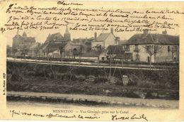 CPA N°6228 - LOT DE 2 CARTES DE MENNETOU SUR CHER - VUE GENERALE PRISE SUR LE CANAL + LE PRIEURE - Frankreich