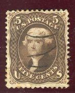 Etats Unis - N° 21 Oblitéré Cote 125€  - Ref Aa24 - 1847-99 Unionsausgaben