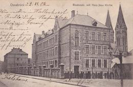 111/ Osnabruck, Riedenstrasse Mit Herz-Jesu Kirche, 1906 - Osnabrück