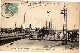 """CPA  La Pallice-Rochelle - Le Quai Nord Et Le Paquebot """"Oravia""""  (183876) - France"""