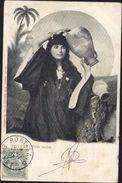Sur CPA Egypte Fille Arabe YT Port Saïd 24 Bureau Français à L'étranger CAD PORT SAID EGYPTE 9 11 1907 - Gebruikt