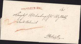 Allemagne Deutschland NEKARBISCHOTTSHEIM Grosherzoglich Badisches Amtsrevisorat Marque Postale Sinzheim R2 Rouge - Duitsland