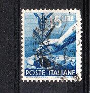 Italia   -   1945.  Democratica  15 £ . Ramoscello In Mano. Twig In Hand. Viaggiato - Vegetazione