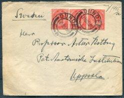 1922 South Africa Dundee, Natal Cover - Professor, Uppsala, Sweden - South Africa (...-1961)