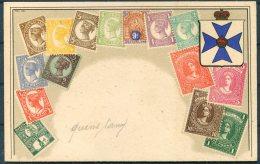 Queensland Australia Stamp Postcard - Timbres (représentations)