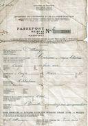 Passeport Pour Ouvriers Belges Allant Travailler à L'étranger : CAREME Alfred - LONZEE (Période De 2 Ans Le 15-5-1943) - 1939-45