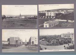 Tunisie - Lot 10 CP - Ferryville - Hopital Maritime, Rue Amiral Ponty, Poste, Caserne Ouvriers, Gourbi - Tunisie