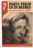7 Jour 142 Paris-Tokio En 24 H Carte Russie En Couleur Gaby Sylvia Dlila Dans Sodome & Gomorrhe - Livres, BD, Revues