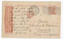 INTERO POSTALE PUBBLICITARIO - NOI I SOPRAVVISSUTI... - SU TRE RIGHE - DA ANCONA A GENOVA 13.09.1924 - Entero Postal