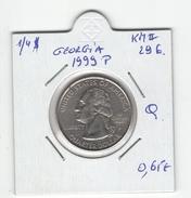 """USA. 1/4 $ """"Georgia 1999 P"""". KM #296. Qualité. - 1999-2009: State Quarters"""