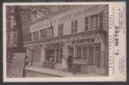 94   ALFORT  :  CAFE - TABAC - HOTEL  MEYRE    .  (  2 SCANS R° V°  ) . - Maisons Alfort
