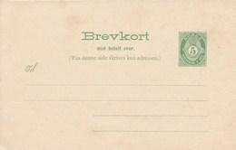 Mi.Nr. P 41**  5 Öre  Ziffer Mit Posthorn Frage- Und Antwortteil - Norwegen