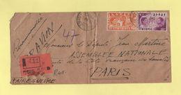 Ethiopie - Dire Dawa - 26 Avril 1951 - Recommande Pour La France - Ethiopie