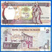 Malte 2 Liri 1994 Loi De 1967 Serie A 24 Malta Skrill Paypal OK - Malta