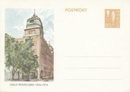 Mi. Nr. 153**  85 Öre Postkort - Bildpostkarte - Postamt Oslo 1924 - 1974 - Norway