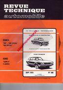 REVUE TECHNIQUE AUTOMOBILE -SIMCA 1301-1501- FORD CAPRI II -SEPT 1975- N° 348-SERFLEX -FIAT 131 MIRAFIORI- - Auto