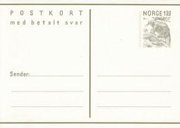 Mi. Nr. 180**  130 Öre Postkort -  Silberwurz - Frageteil + Antwortteil 130 + 130 Öre - Norway