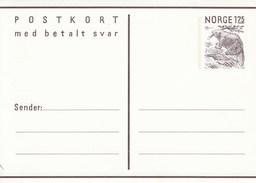 Mi. Nr. 184**  175 Öre Postkort -  Silberwurz  - Frageteil Und Antwortteil 175 Und 175 Öre - Norway