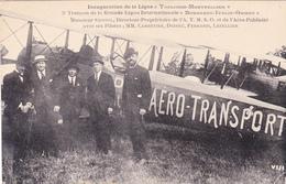 CPA Animée (31) Inauguration De La Ligne Toulouse-Montpellier ERNOUL A.T.M.S.O. Aéro-Publicité Pilote - Toulouse