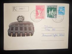 Lituanie Lettre Recommande De Vilnius 1991 - Lituania