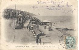 20. VILLERS-sur-MER . L'ETABLISSEMENT DE BAINS A MER HAUTE . AFFR SUR RECTO LE 8/8/1903 . DOS NON DIV - Villers Sur Mer