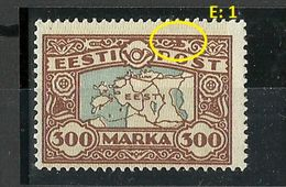 Estland Estonia 1924 Michel 54 ERROR E: 1 * - Estland