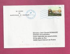Lettre De Saint Pierre Et Miquelon De 2012  - YT N° 1019 - Detail D'une Procession - Tableau - St.Pierre Et Miquelon