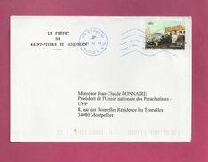 Lettre De Saint Pierre Et Miquelon De 2012  - YT N° 1020 - Detail D'une Procession - Tableau - St.Pierre Et Miquelon