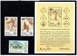 1982  Scouting Yeat  Complete Set And Souvenir Sheet  UM ** - Tristan Da Cunha