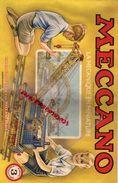 MECCANO - CATALOGUE N° 3- USINES A BOBIGNY- 1949-GRUE LOCOMOTIVE-AVION HYDRAVION-CAMION-TRACTEUR-SULKY-MANEGE-TANK - Meccano