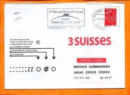 PAS De CALAIS, Boulogne Sur Mer, Flamme SCOTEM N° 19642, 1er Port De Pêche De France, Mégras - Sellados Mecánicos (Publicitario)