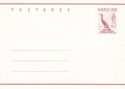 Mi. Nr. K 54**  2,00 Kr. Postbrev -   Kormoran Und Leuchtturm - Norway