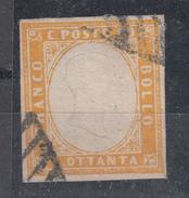 Sardegna - 80 Cent. (o) Sass. 17 - Annullo A Griglia - Sardegna