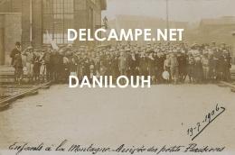 43 // CHAMBON DE TENCE    CARTE PHOTO / Enfants à La Montagne, Arrivée Des Petits Parisiens, Juillet 1906 - Autres Communes