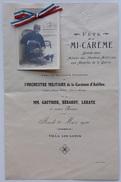 Programme Fête De La Mi-carême 1916 En Faveur Des Amputés De Guerre Villa Les Lotus Cannes - 1914-18
