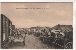 Nr.  9078,  Lebensmittelausgabe Auf Dem Bahnhof Zu Saint Hilaire - War 1914-18