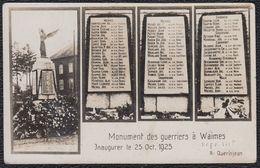 VIEILLE CARTE PHOTO ** MONUMENT DES GUERRIERS WAIMES ** ( BRYERES - CHAMPAGNE - GROSBOIS - LIBOMONT - REMONVAL Etc ) - Waimes - Weismes