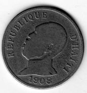 1 Pièce De Haiti - 50 Centimes 1908 En Nickel - B - - Caraïbes Orientales (Etats Des)