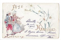 17251 - Montreux Fête Des Narcisses Dessin De Peytrequin Couple - VD Waadt