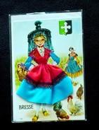 01 - BRESSE - CARTE EN TISSUS ET BRODÉE - - France