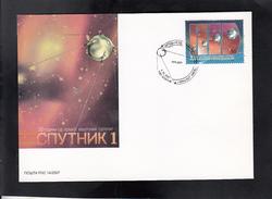 MACEDONIA, 2007, FDC, MICHEL 443 - 50 YEARS  SPUTNIK 1 / RUSSIA ** - Astronomùia
