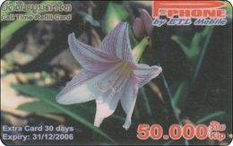 Laos Phonecard   Blumen Flower - Laos
