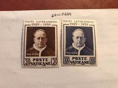 Vatican City Lateran Treaty Mnh 1959 - Unused Stamps